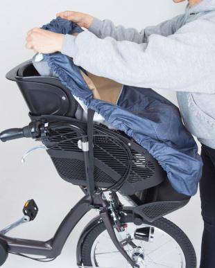 ブラックスタードット  フロントチャイルドシートカバー(自転車 前子供乗せ専用)|KIDS見る