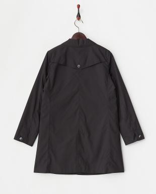 ブラック  トレンチディテール ステンカラーコート見る