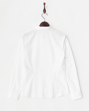 ホワイト スキッパーカラー ベーシックシャツ見る