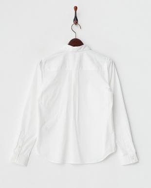 ホワイト ビジュー衿シャツブラウス見る