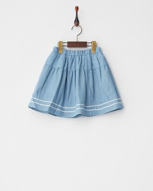 ネイビー  リバーシブルフレアスカート見る