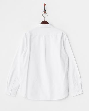 ホワイト  オックスボタンダウンシャツ見る