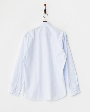 ライトブルー 綿混シャツ見る
