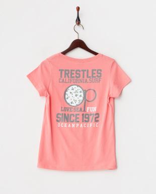 ライトピンク プリントTシャツ見る
