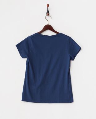 ネイビー  グラデーションプリントTシャツ見る
