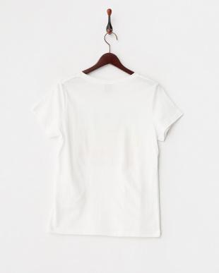 ホワイト  グラデーションプリントTシャツ見る