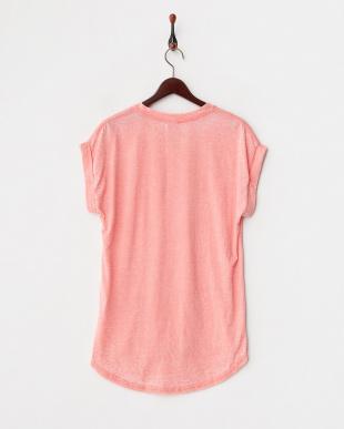 ピンク 杢調無地Tシャツ見る
