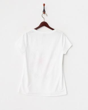 ピンク ヤシ  UVプロテクション(UPF50+) 水陸両用Tシャツ見る