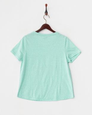 グリーン  ヤシの木プリントTシャツ見る