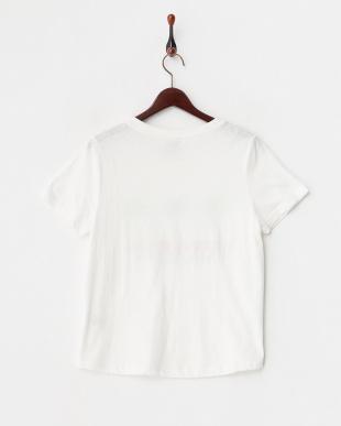 ホワイト  ヤシの木プリントTシャツ見る