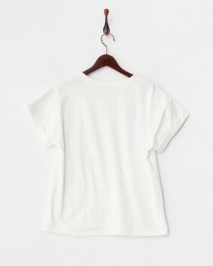 ホワイト  フリンジロゴTシャツ見る