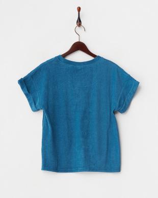 ネイビー  袖折り返しパイルTシャツ見る
