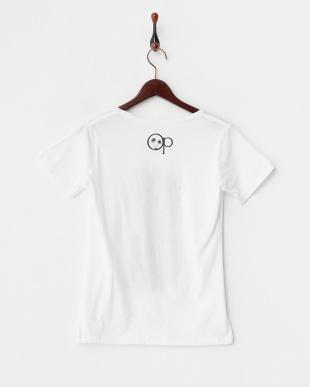 ホワイト パイナップル プリントTシャツ見る