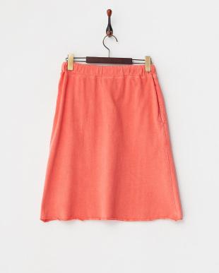 オレンジ  スウェットスカート見る