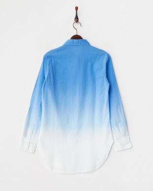 ブルーグラデーション UVプロテクションL/S.ロールアップシャツ見る