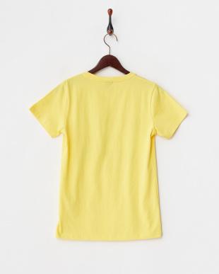 イエロー  半袖プリントTシャツ見る