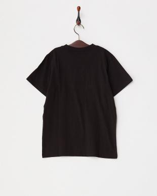 BLK  キッズ 手書き風ラインプリントTシャツ見る
