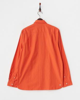 オレンジ  BUBBIE フラップポケット付きシャツ見る