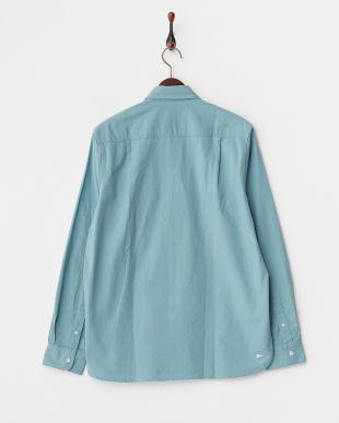 ブルー  BUBBIE フラップポケット付きシャツ見る