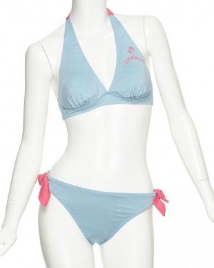 ピンク  Hawaiian Beachパームツリー ビキニ4点セット見る