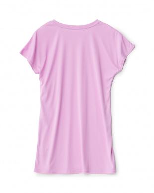 ピンク系  ロゴ半袖ラッシュガード見る