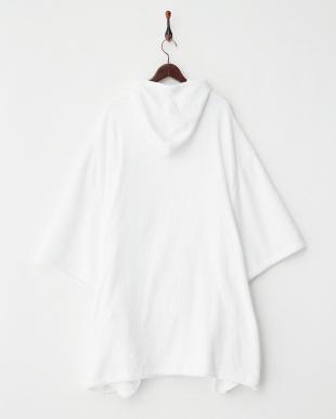 ホワイト  ふわモコお着替えポンチョ見る