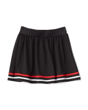 ブラック  裾ライン水陸両用スカート見る