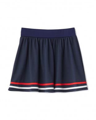 ネイビー  裾ライン水陸両用スカート見る