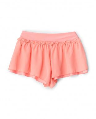 ピンク  シフォン2段パンツ見る