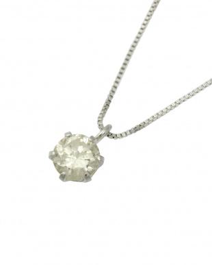 Pt 天然ダイヤモンド 0.3ct プラチナネックレス・ベネチアンチェーン見る