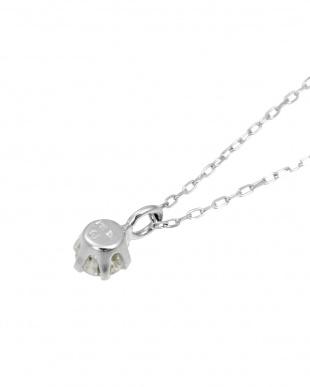 K18WG  天然ダイヤモンド0.1ct SIクラス ネックレス見る