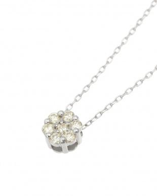K18WG  天然ダイヤモンド 0.1ct セブンストーンペンダント見る