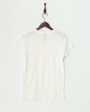 ホワイト  HAPPYプリントTシャツ見る