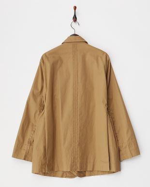 ベージュ 断ち切りデザインジャケット見る