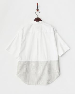 ホワイト  ピンポイントオックス&カラミ裾切り替えBL見る