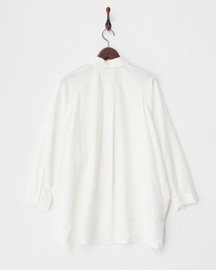 WHITE  ポリピーチビッグシャツ見る