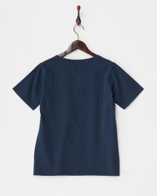 ネイビー  コットンポケットTシャツ見る