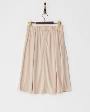 ベージュ  タックミディスカート見る