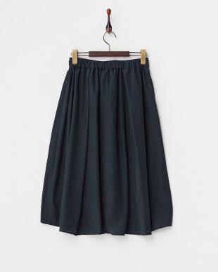 ネイビー  フロントリボンバックテールスカート見る