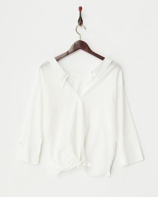 オフホワイト  2WAYシャツ見る