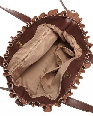 チョコ  フリルトップ2WAYトートバッグ見る
