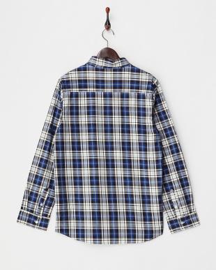 BLU  チェックボタンダウンシャツ WH見る