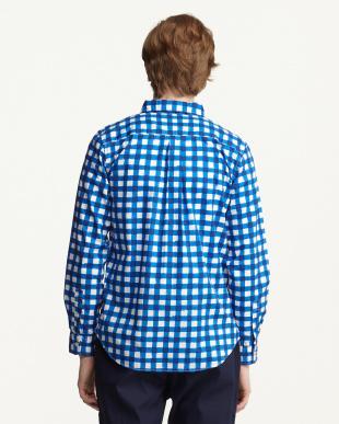 BLU  コットンギンガムチェックBDシャツ WH見る