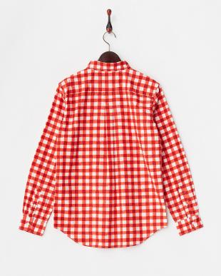 RED  コットンギンガムチェックBDシャツ WH見る