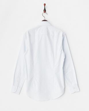 L.BLUE  ストライプワイドカラードレスシャツ WH見る