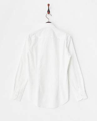 WHT  ストライプワイドカラードレスシャツ WH見る