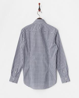 BLU  ミニチェックレギュラーカラードレスシャツ WH見る