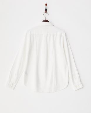 WHT  麻混レギュラーシャツ WH見る
