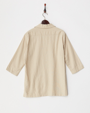 BEG  麻混スキッパーシャツ WH見る