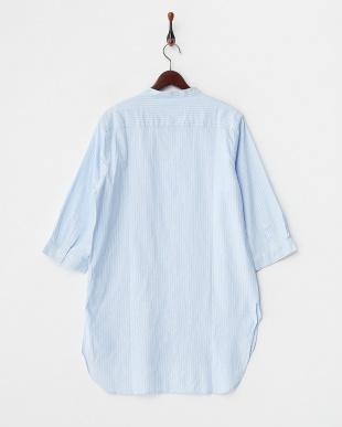 L.BLU  綿麻ストライプロングシャツ WH見る